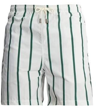 Solid & Striped Classic Striped Swim Shorts - Mens - Green Multi