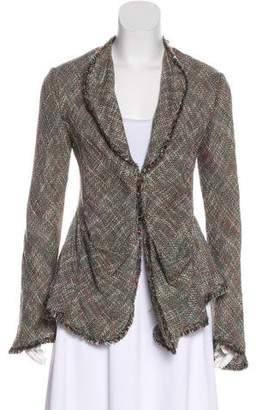 Theyskens' Theory Open-Front Tweed Cardigan