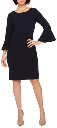 Liz Claiborne 3/4 Bell Sleeve Sheath Dress
