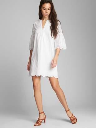 Gap Short Sleeve Eyelet Shift Dress