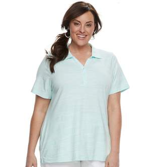 Croft & Barrow Plus Size Space-Dye Polo