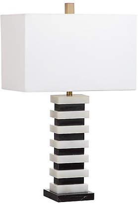 One Kings Lane Fenimore Table Lamp - Black/White