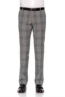 Joe Black Wool Windowpane Check Trouser