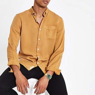 River Island Mustard yellow long sleeve shirt