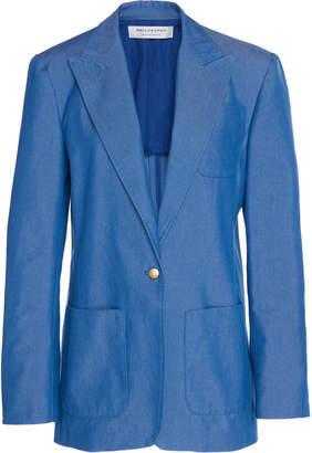 Philosophy di Lorenzo Serafini Front Button Cotton-Blend Blazer