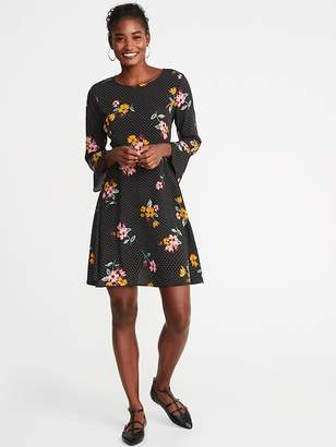 Old Navy Fit & Flare Ruffle-Sleeve Dress for Women