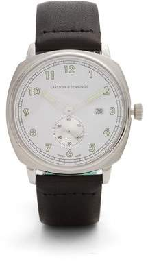 Larsson & Jennings MK I Pilot stainless-steel and leather watch