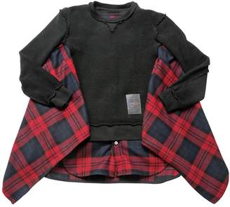 DSQUARED2 Inside-Out Flannel & Cotton Sweatshirt