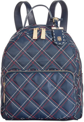 Tommy Hilfiger Julia Quilted Nylon Dome Backpack, Created for Macy's