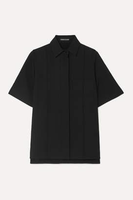 Kwaidan Editions Bonded Wool And Cotton-blend Shirt - Black