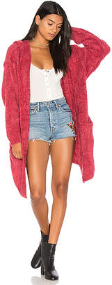 Free People Half Moon Chenille Cardi