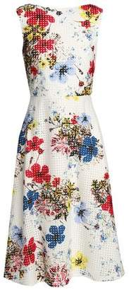 Erdem Floral-Print Broderie Anglaise Cotton Dress