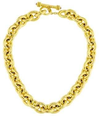 Elizabeth Locke 18K Ruby Toggle Chain Necklace