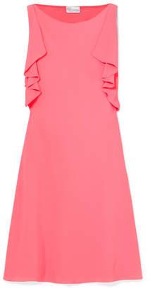RED Valentino Ruffle-trimmed Crepe De Chine Mini Dress - Pink