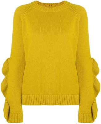 RED Valentino ruffle sleeve sweater