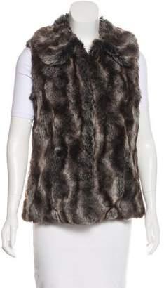 Rachel Zoe Crew Neck Faux Fur Vest