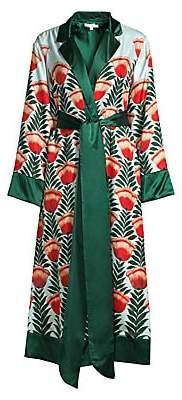 Oscar de la Renta Sleepwear Women's Long Silk Robe