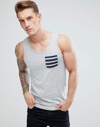 French Connection Stripe Pocket Tank