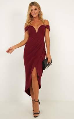 Showpo Live To Tell Dress In wine - 6 (XS) Sale Dresses