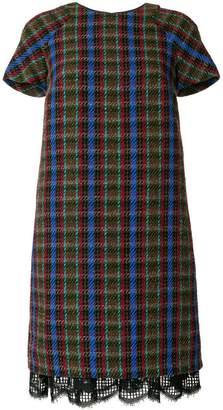 Talbot Runhof knitted check dress