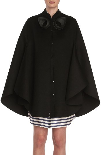 Burberry Women's Burberry Embellished Wool Cape
