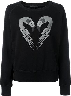Diesel flamingo print sweatshirt $99.12 thestylecure.com