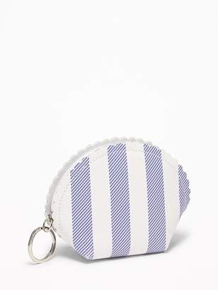 Old Navy Scalloped Faux-Leather Coin Purse for Women