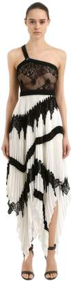 Givenchy Silk Georgette & Lace Dress