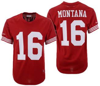 Mitchell & Ness Men Joe Montana San Francisco 49ers Mesh Name and Number Crewneck Jersey