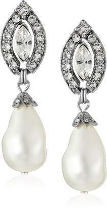 Crystal Pearl Ben-Amun Jewelry Drop Earrings