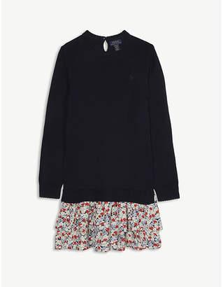 Ralph Lauren Floral skirt cotton jumper dress 7-14 years