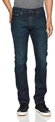 """Bugatchi Men's Five Pocket Straight Slim Jeans 34"""" Inseam"""