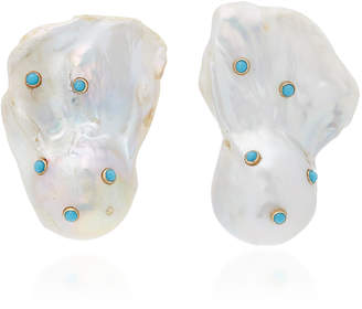 Ranjana Khan Baroque and Turquoise Earrings