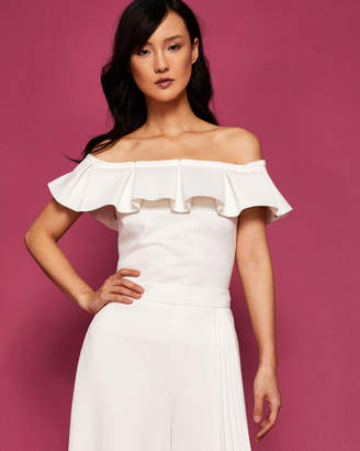 Ted Baker LIISTA Box pleat neckline Bardot top