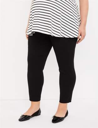 1f09953e5cca2 Motherhood Maternity Plus Size Secret Fit Belly Ruffled Pocket Rayon Skinny  Maternity Crop Pants