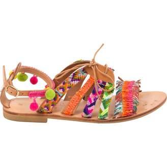 Elina Linardaki Multicolour Leather Sandals