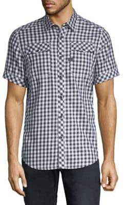 G Star Landoh Checked Button-Down Shirt