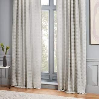 west elm Block Dash Jacquard Curtain