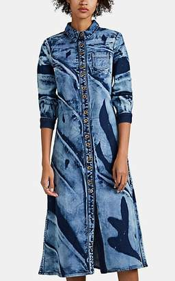Proenza Schouler Women's Bleached Denim Shirtdress - Blue