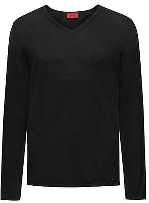 HUGO BOSS V-neck sweater in a cotton blend