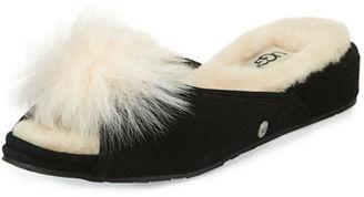 UGG Yvette Pompom Slide Slipper $85 thestylecure.com