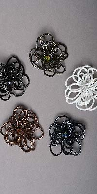 Sequined Flower Broaches