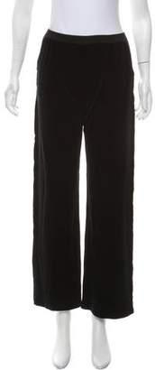 Sonia Rykiel Velour Mid-Rise Wide-Leg Pants