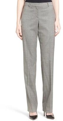 Women's Boss 'Tamea 5' Straight Leg Wool Suit Pants $255 thestylecure.com
