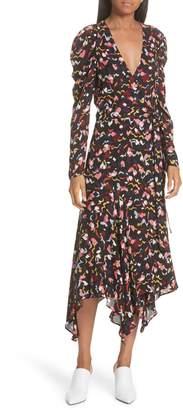 A.L.C. Tianna Silk Wrap Dress