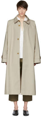 BEIGE Hed Mayner Cotton Trench Coat