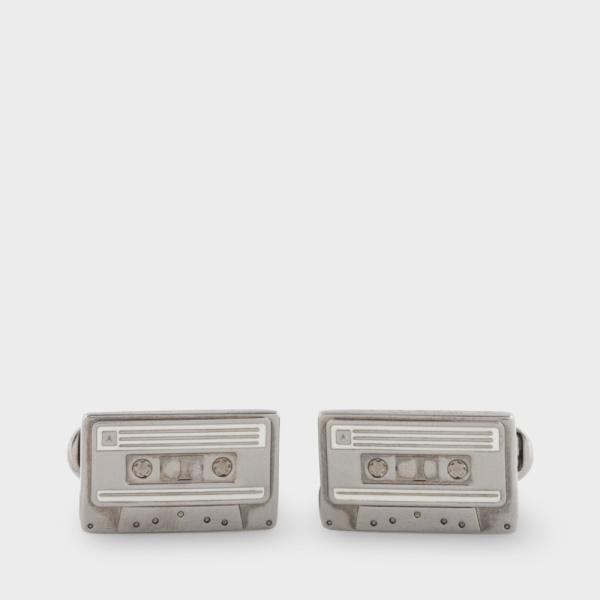 Paul SmithMen's Anodised Silver Cassette Tape Cufflinks