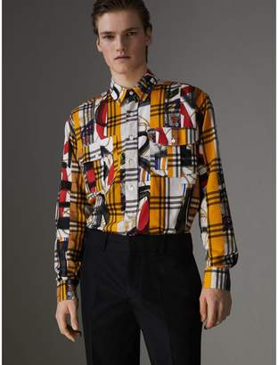 Burberry Archive Scarf and Check Print Cotton Shirt