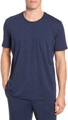 Daniel Buchler Print Cotton Blend Crewneck T-Shirt