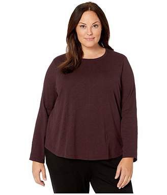 Eileen Fisher Plus Size Organic Cotton Roundneck Top